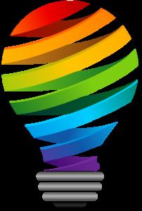 Rainbow Gay Pride Lightbullb Graphic